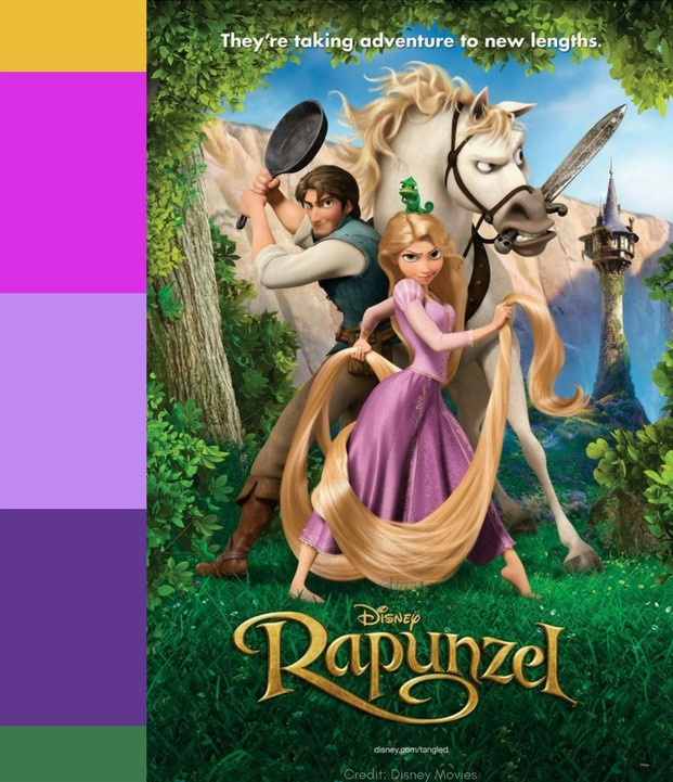 Tangled color palette